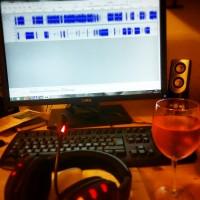 Podcast szerkesztés in process